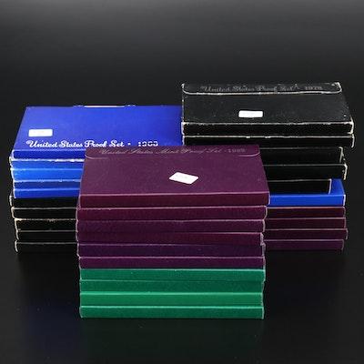 Thirty U.S. Mint Proof Sets, 1968–1997