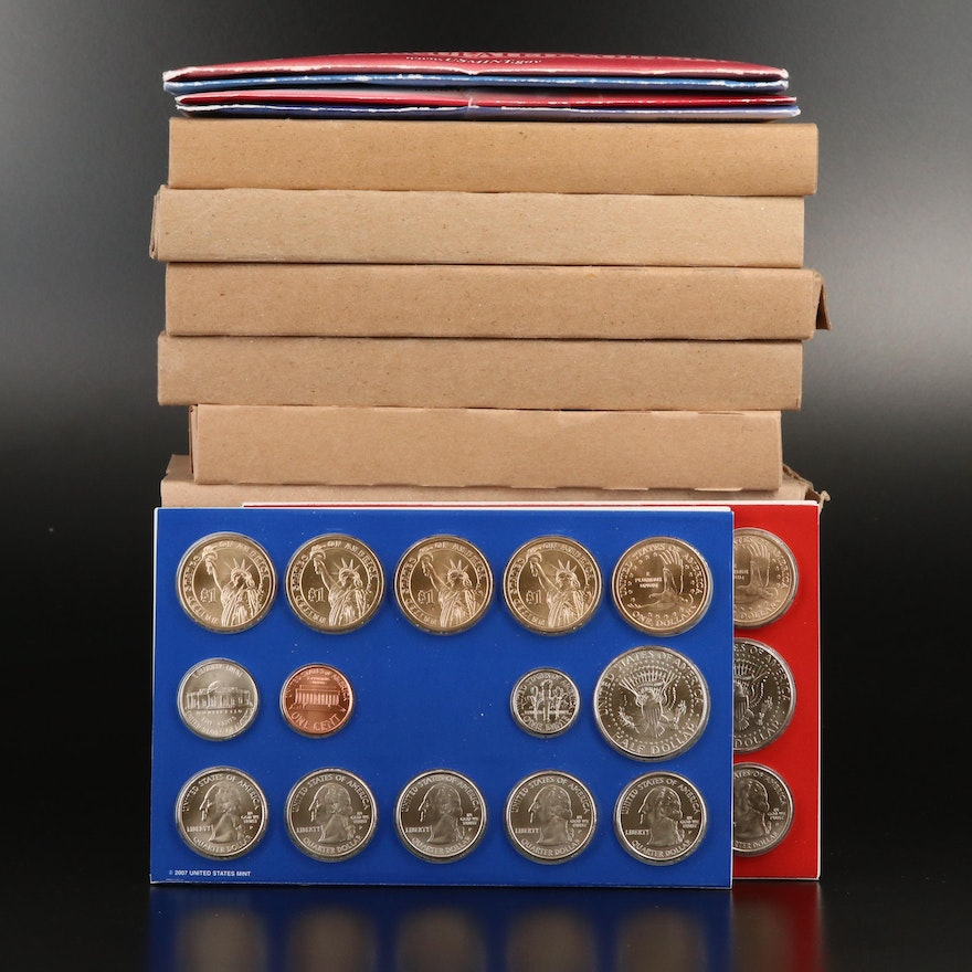 Thirteen U.S. Mint Uncirculated Sets 2000–2012