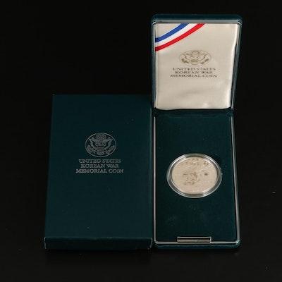 1991 Korean War Memorial Proof Commemorative Silver Dollar