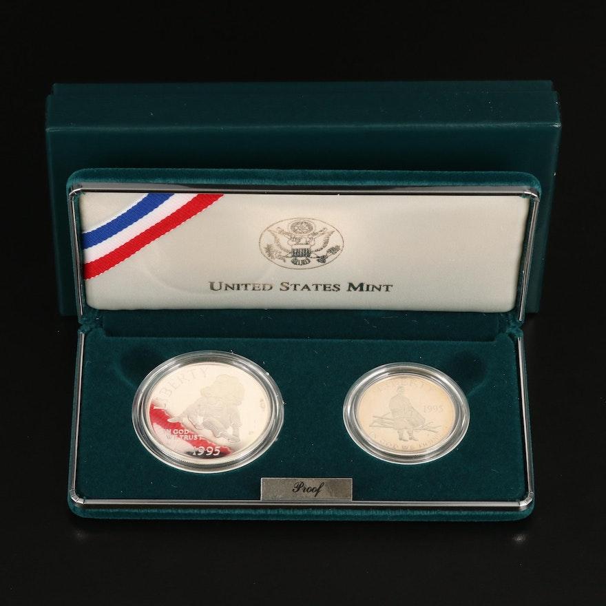 1995 2-Coin Civil War Battlefield Commemorative Coin Set