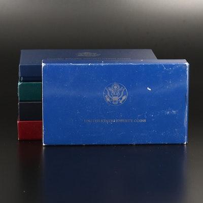 Five Commemorative U.S. Silver Dollars