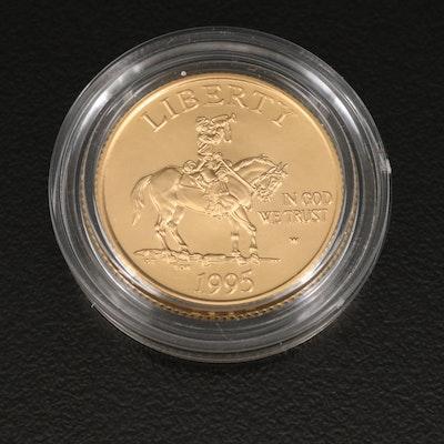 Proof 1995-W Civil War $5 Gold Commemorative Coin