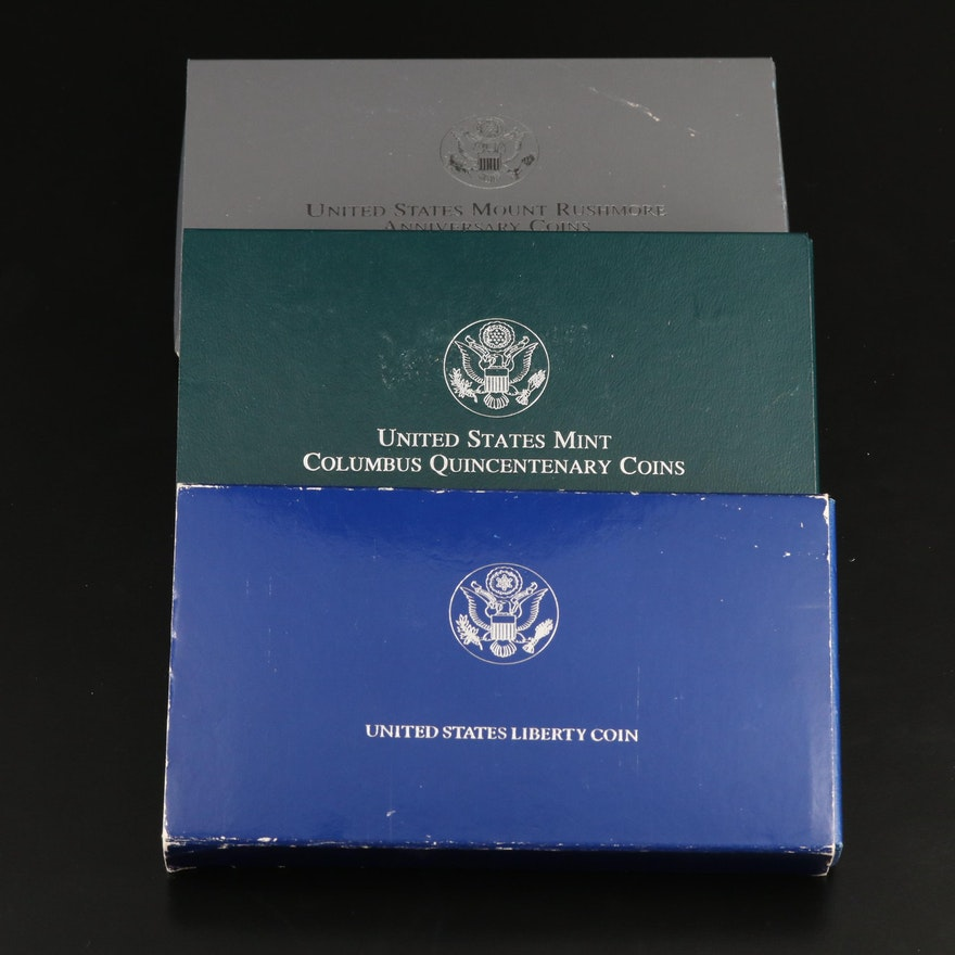 Three Commemorative Two-Coin Proof Sets
