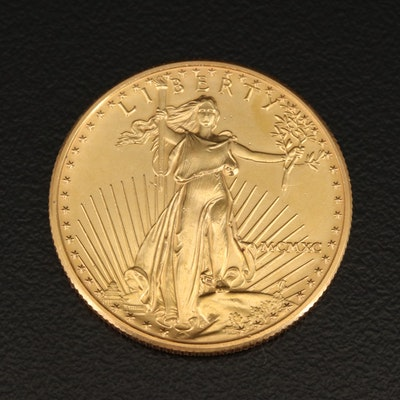 1990 Walking Liberty 1/2 Troy Ounce $25 Gold Eagle Coin