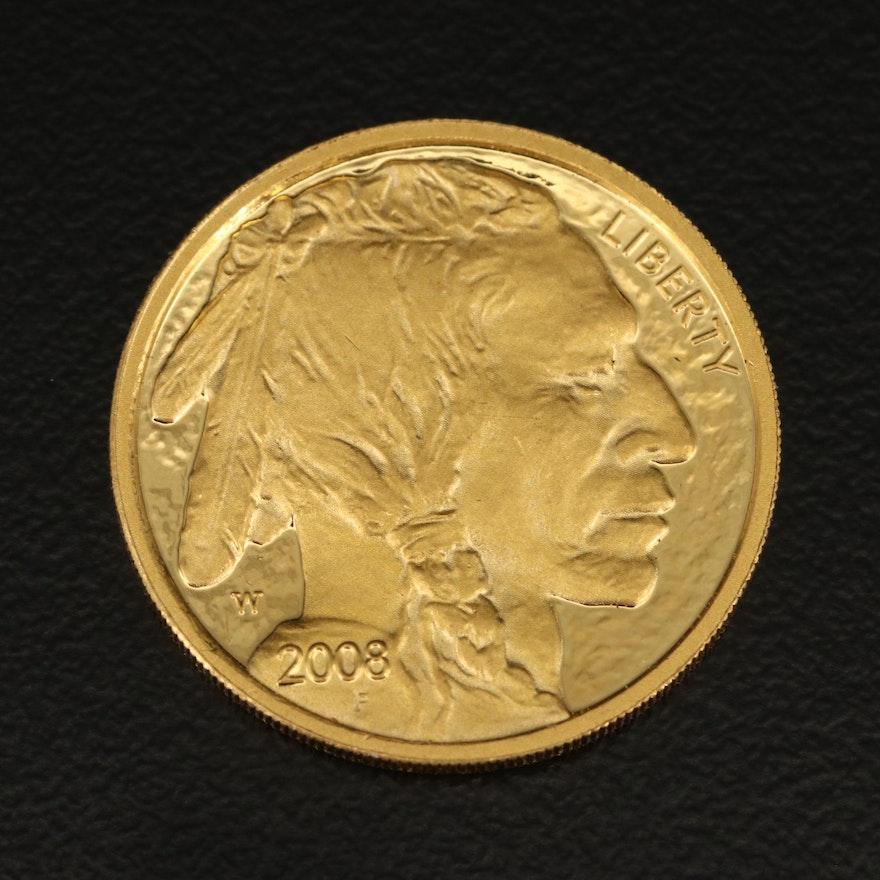 2008-W $10 American Buffalo .9999 Fine Gold Proof Coin
