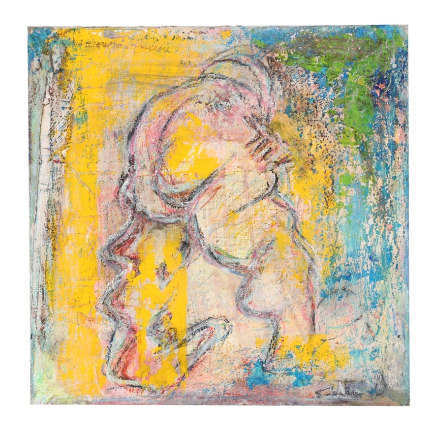 Janice Schuler Acrylic Painting, 2016