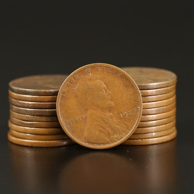 Twenty Key Date 1922-D Lincoln Wheat Cents