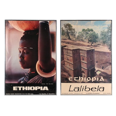 Offset Lithograph Ethiopian Tourism Posters, Late 20th Century