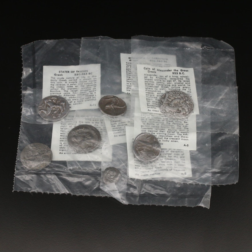 Seven Reproduction Ancient Coins