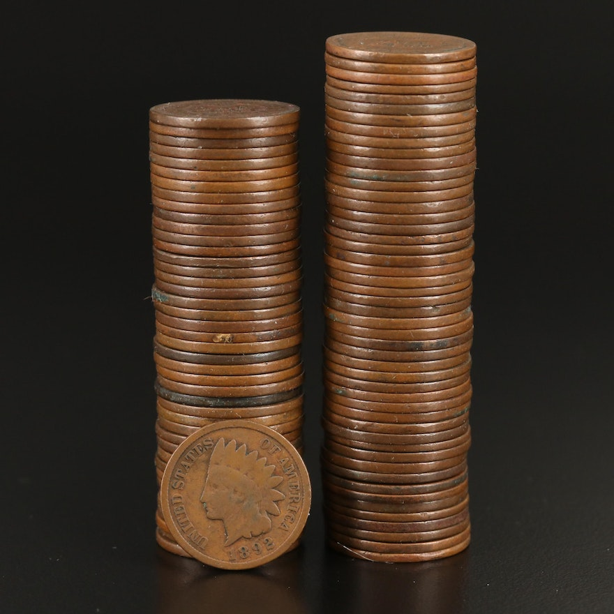 Ninety-Two Indian Head Cents, 1880–1908