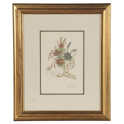 """Offset Lithograph after Salvador Dalí """"Anemone per Anti Pasti"""""""