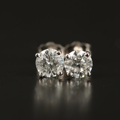 14K 0.96 CTW Diamond Stud Earrings