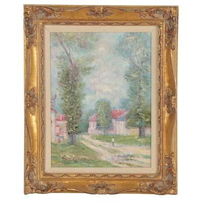 John Clymer Impressionist Style Landscape Painting