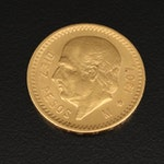 1907 Mexico 10 Pesos Gold Coin