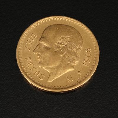 1906 Mexican 10 Peso Miguel Hidalgo Gold Coin