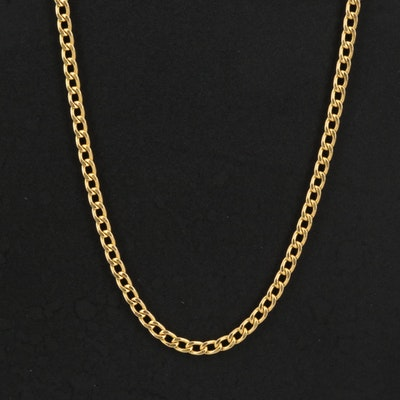 Italian 14K Curb Chain Necklace