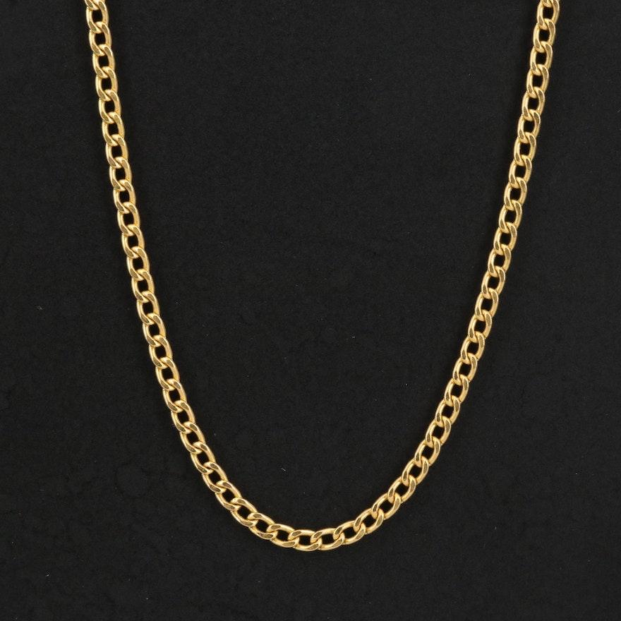 Italian 14K Curb Chain Necklace