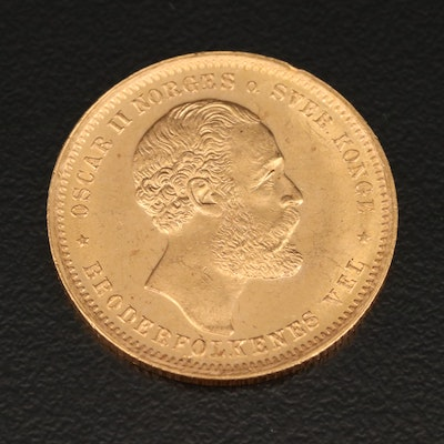 Norway 20 Kroner Gold Coin, 1902