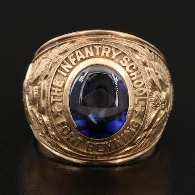 Vintage Fort Benning Infantry School 10K Ring