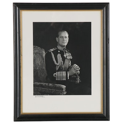 "Yousuf Karsh Silver Gelatin Photograph ""His Royal Highness Prince Philip"""