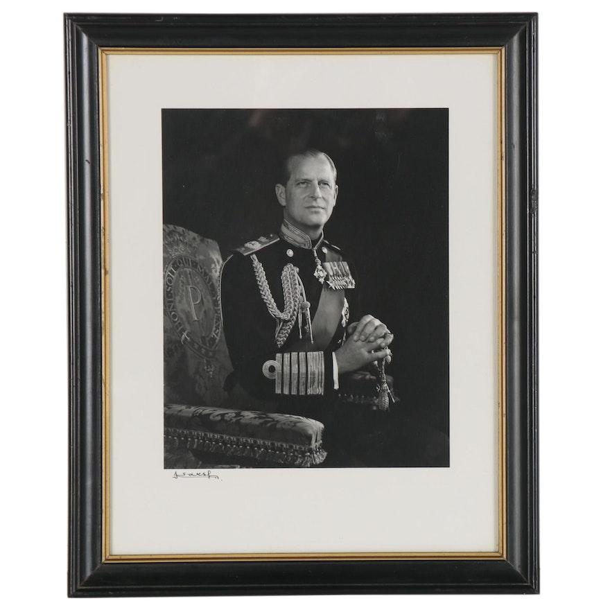 "Yousuf Karsh Silver Gelatin Photograph ""His Royal Highness Prince Philip"""