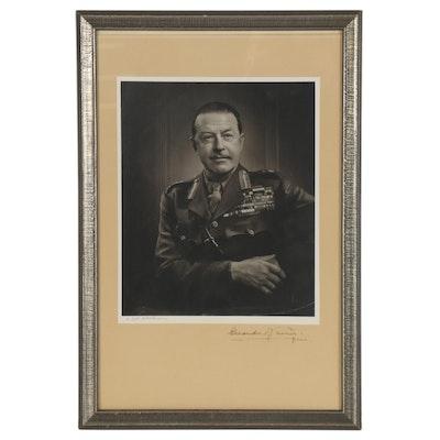 "Yousuf Karsh Silver Gelatin Photograph ""Alexander of Tunis,"" circa 1952"