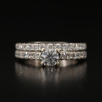 Tolkowsky 14K 1.10 CTW Diamond Ring