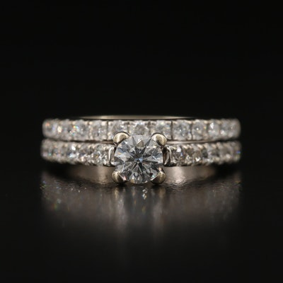 Tolkowsky 14K 1.10 CTW Diamond Ring