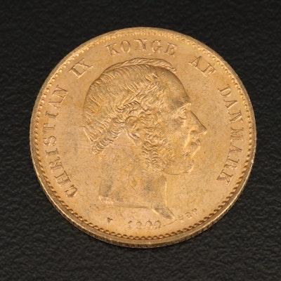 """Denmark 20 Kroner """"Mermaid Type"""" Gold Coin, 1900"""