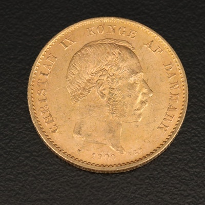 "Denmark 20 Kroner ""Mermaid Type"" Gold Coin, 1900"