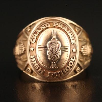Balfour 10K 1951 Grand Prairie High School Ring