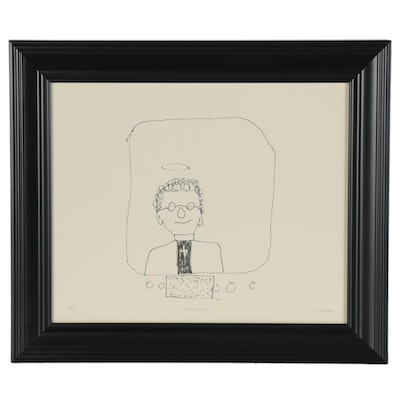 """Giclée after John Lennon """"The Vicar in the Telly,"""" 21st Century"""