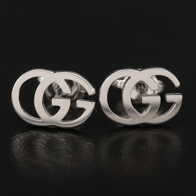 "Gucci ""GG Running"" 18K Stud Earrings"