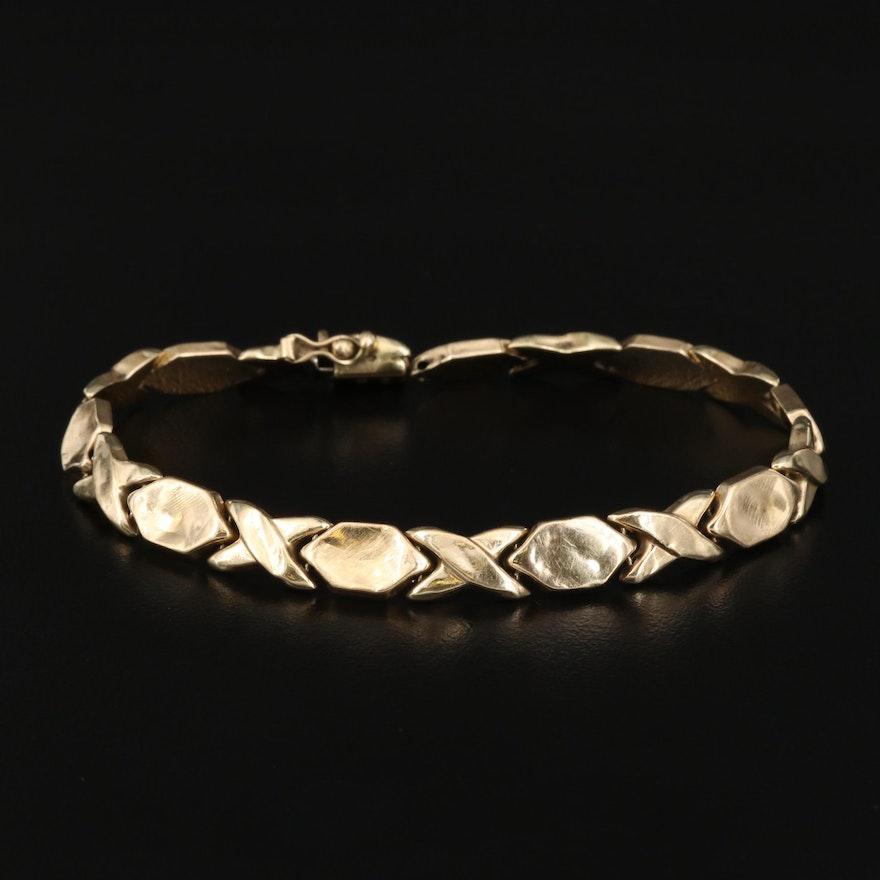14K Scrap Bracelet