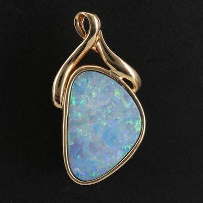 14K Boulder Opal Pendant