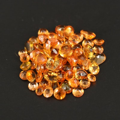 Loose 22.92 CTW Sapphire and Spessartine Selection