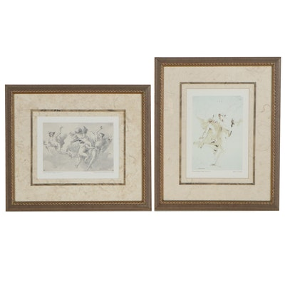 Offset Lithographs after Giovanni Battista Tiepolo of Roman Gods