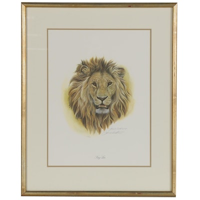 "John A. Ruthven Offset Lithograph ""King Lion,"" 1984"