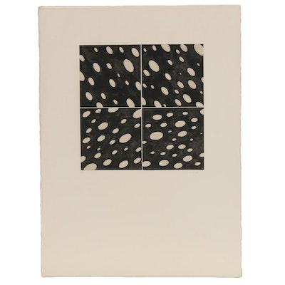 Abstract Drypoint Etching, Late 20th Century