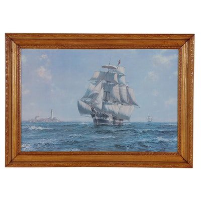 Nautical Offset Lithograph after Roy Cross, Late 20th Century