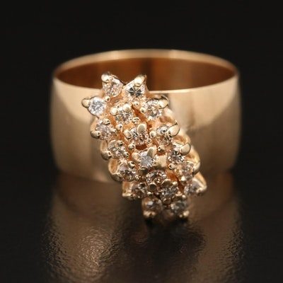 14K Diamond Waterfall Ring