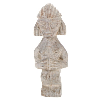 Pre-Columbian Style Carved Stone Female Figure, Central America