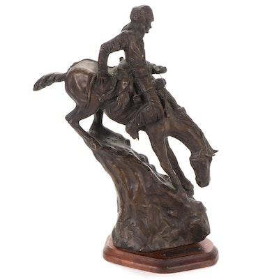 "Sculpture after Frederic Remington ""Mountain Man"""