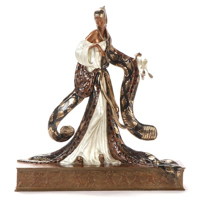 "Erté Patinated Bronze Sculpture ""Rigoletto,"" 1988"