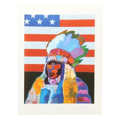 "John Nieto Serigraph ""Indelible Cultural Imprint,"" 1996"