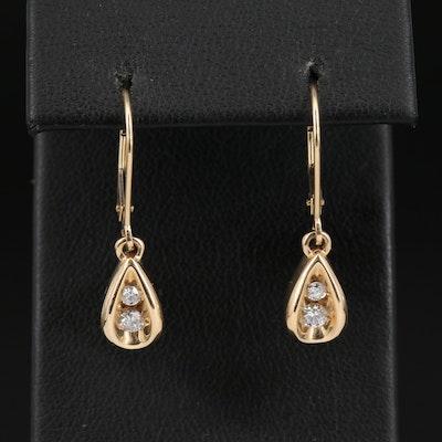 14K Diamond Teardrop Earrings