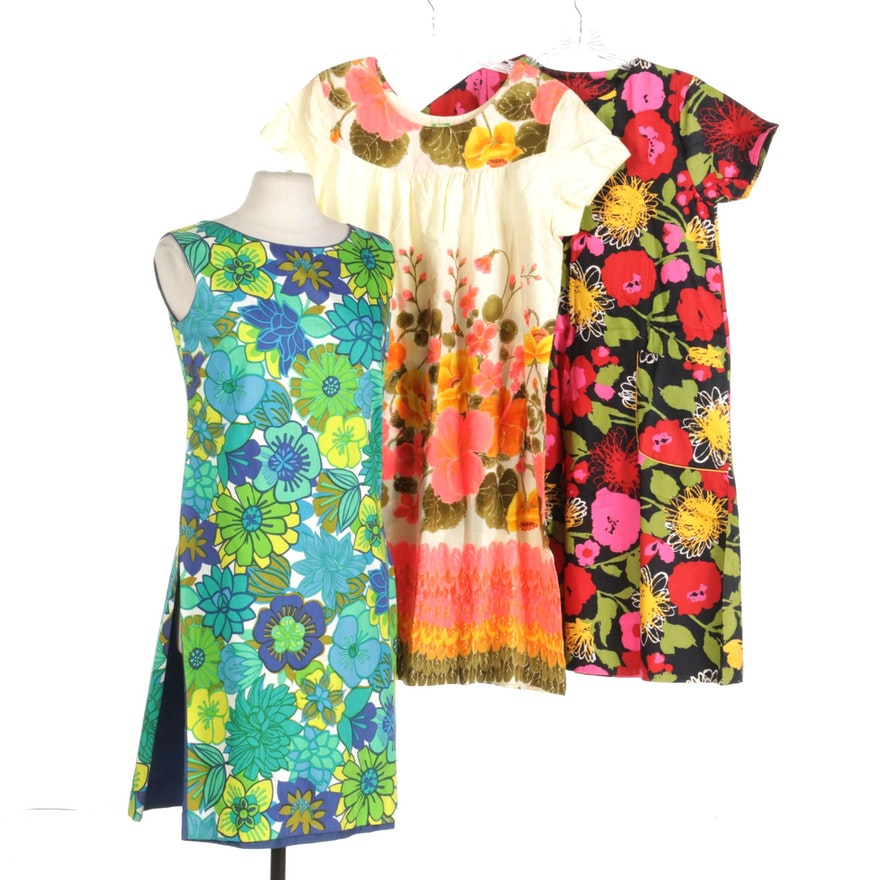 Hawaiian Floral Dresses and Union Label Floral Print Dress