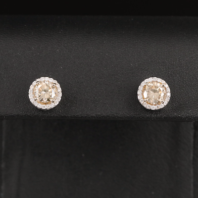 14K 2.39 CTW Diamond Stud Earrings