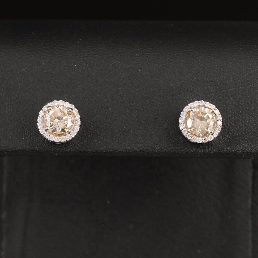14K 2.39 CTW Diamond Stud Earrings