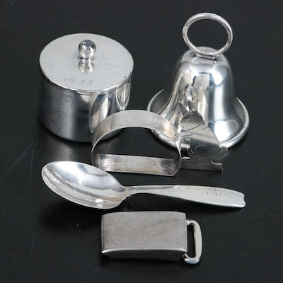 Tiffany & Co. Sterling Spoon with American Sterling Silver Table Accessories